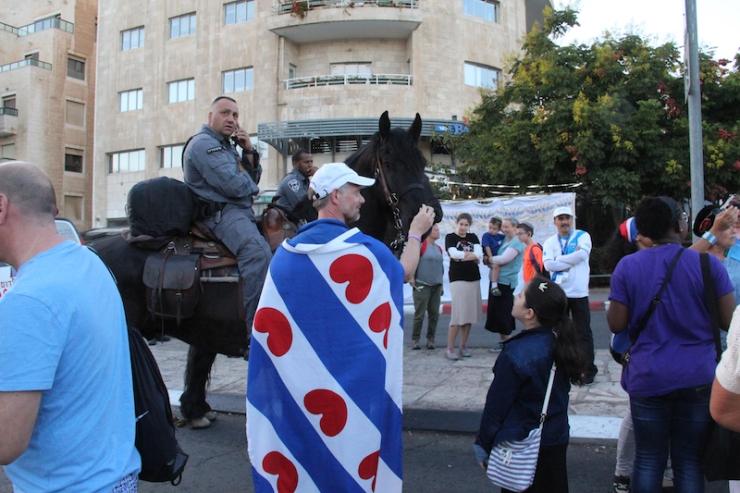 Jerusalem-marsj 10.10.2017 politihest (H.N.)