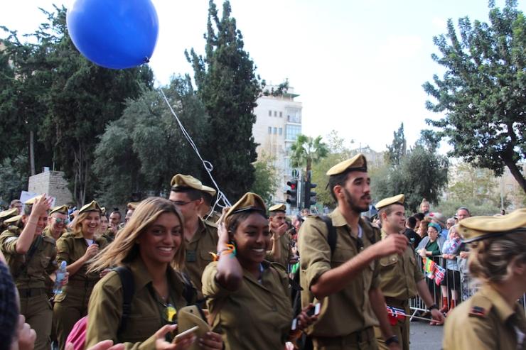 Jerusalem-marsj 10.10.2017 soldater (H.N.)
