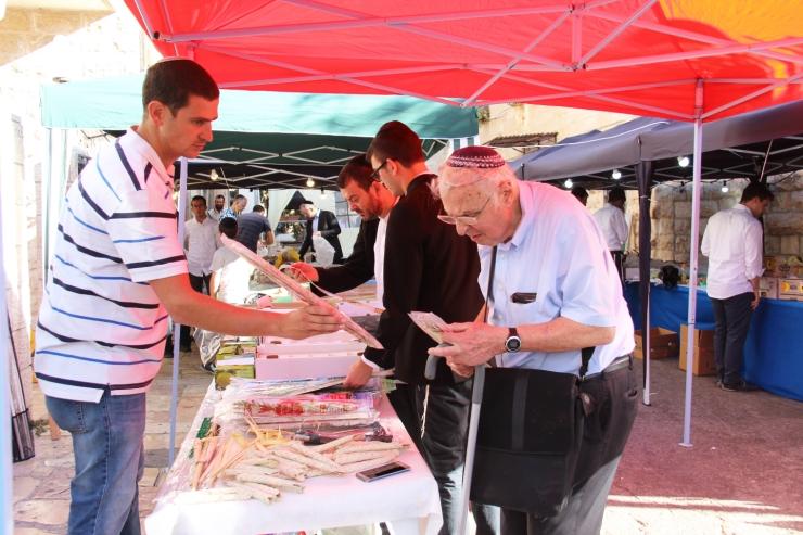 Løvhyttefest 2017, lulav-markedet 8 (H. Norberg)