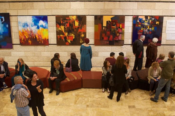 Expositie in Jerusalem Theater van Marc de Klijn & Henny van Hartingsveldt.