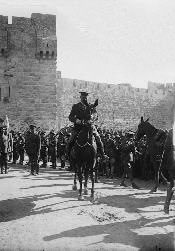 Field Marshall Allenby at the Jaffa Gate. Courtesy of Matson Photograph Collection. Library of Congress.sm