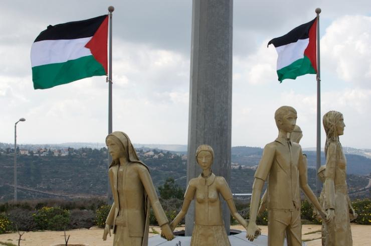 In de nieuwe Palestijnse stad Rawabi.