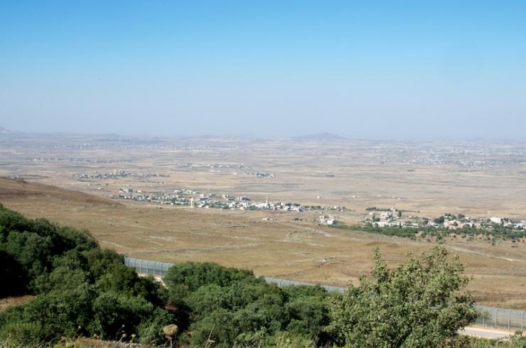 Op de Golan aan de grens met de grens met Syrië.