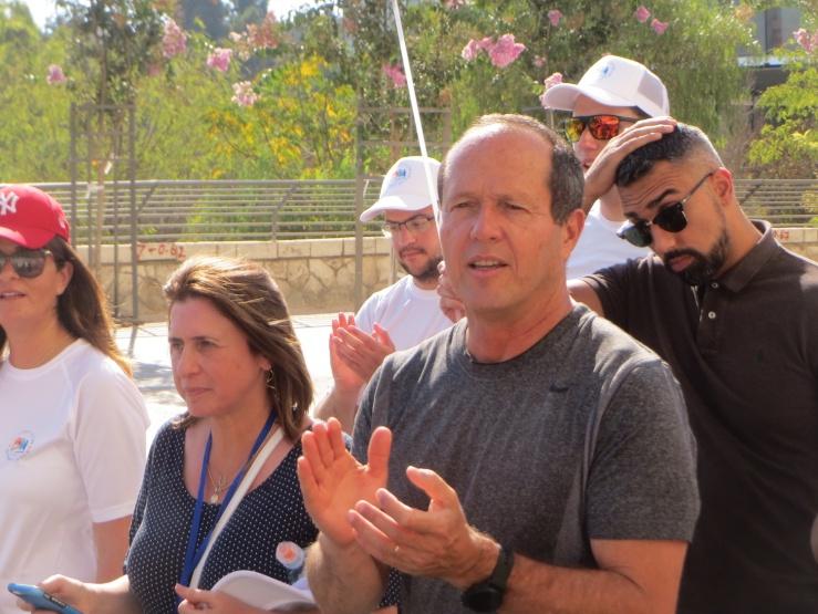 Jerusalem-marsj 2018, borgermester Nir Barkat (Foto Vidar Norberg)
