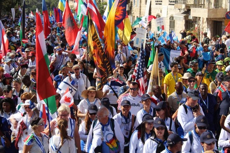 Jerusalem-marsjen 2018, folk (Heljä Norberg)