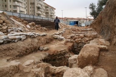 8 De archeologische opgraving, foto Yoli Shwartz, Israelische Oudheidkundige dienst