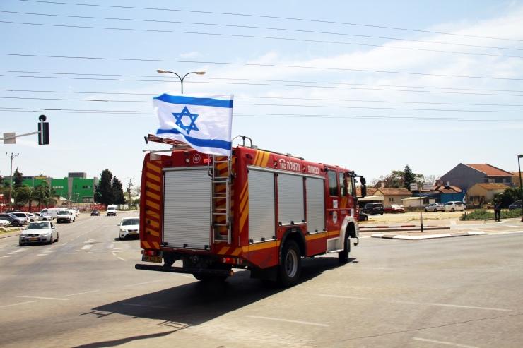 UDF 11 Raketter fra Gaza 5.5.2019 Askalon brannbil (V.N.)
