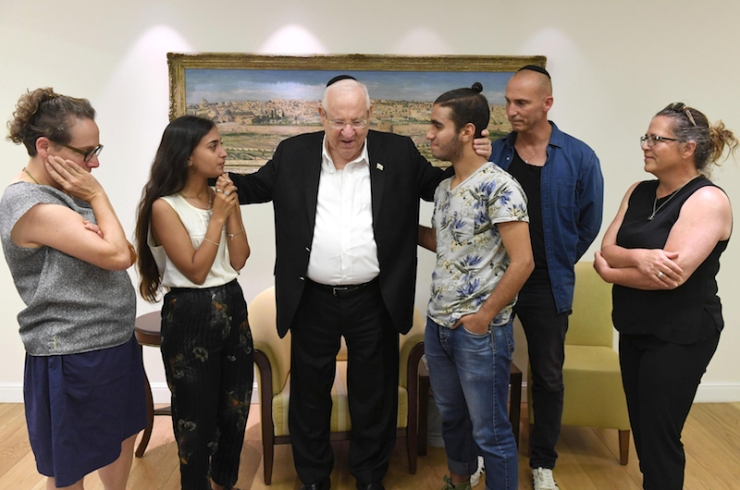 President Rivlin and family with Halabli family IV - 6 June 2019