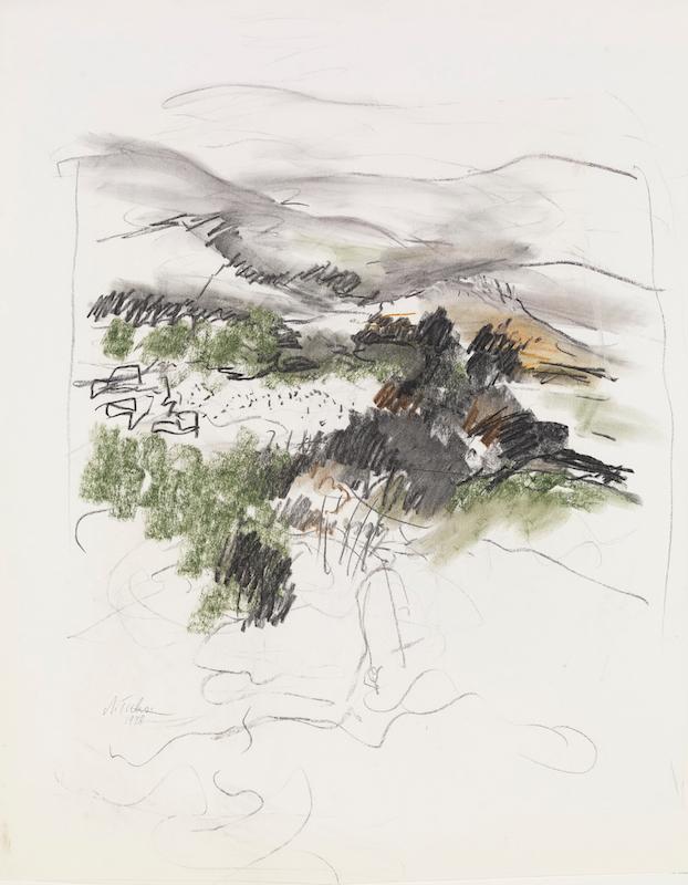 Ticho Anna, Color Sketch, 1970s~B80_0477