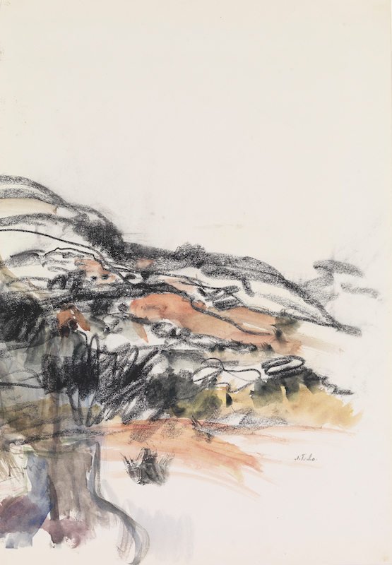 Ticho Anna, Hilly Landscape, Late 1960s ~B80_0435
