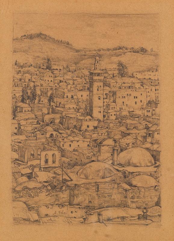 Ticho Anna, Old City of Jerusalem, 1934~B80_0301