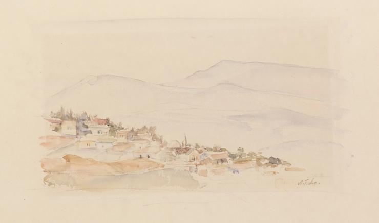 Ticho Anna, Safed at Dawn, 1935 ~B80_0307