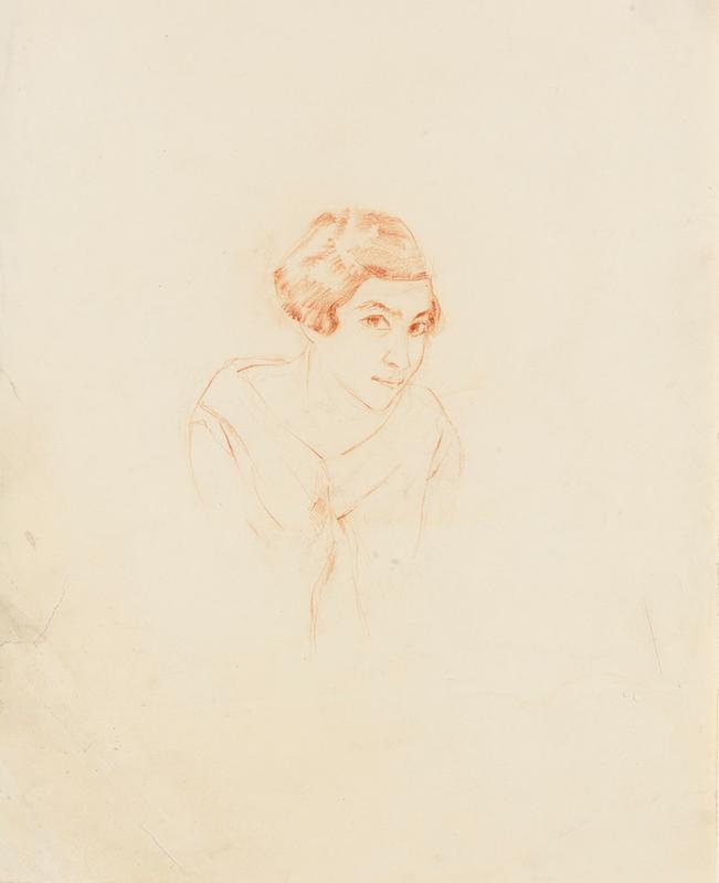 Ticho Anna, Self Portrait, 1925 ~B80_0505