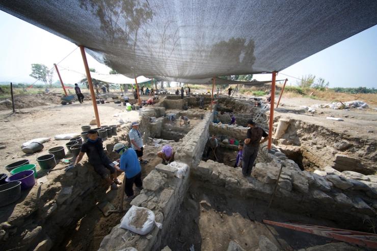 ZAY07536 Opgravingen in el-Araj